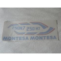 Juego adhesivos Montesa Enduro H7 250. No incluye los logos del depósito.