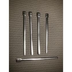 Abrazaderas aluminio instalación eléctrica largas