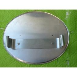 Portanúmero aluminio con soportes